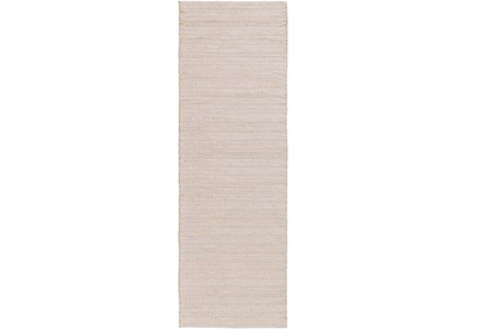 30X96 Rug-Braided Wool Blend Ivory