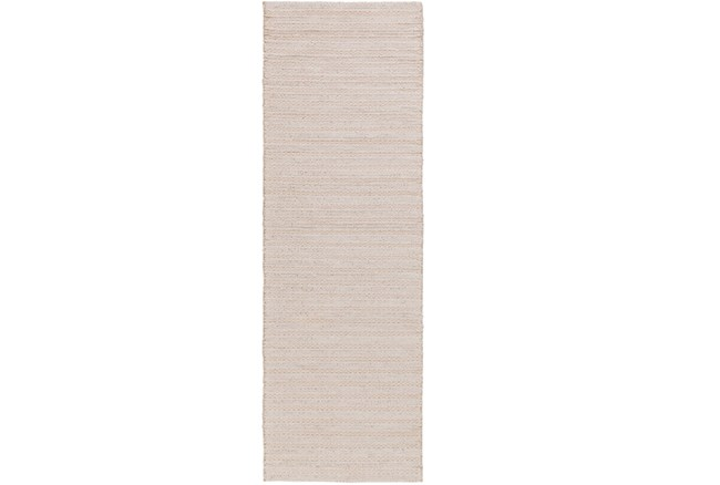 "2'5""x8' Rug-Braided Wool Blend Ivory - 360"