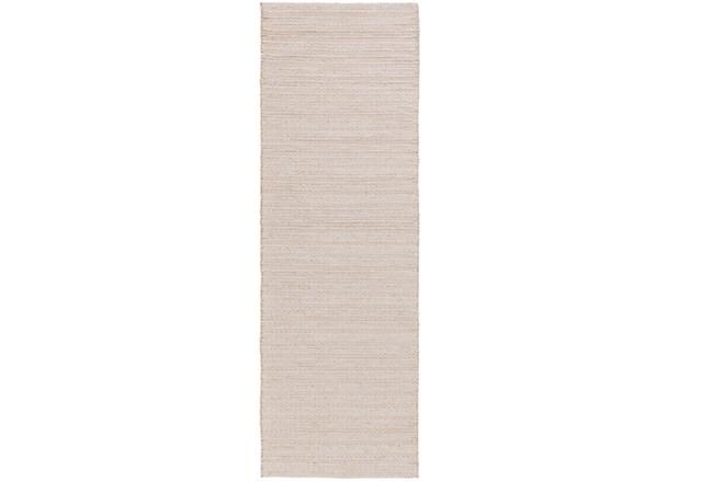 30X96 Rug-Braided Wool Blend Ivory - 360