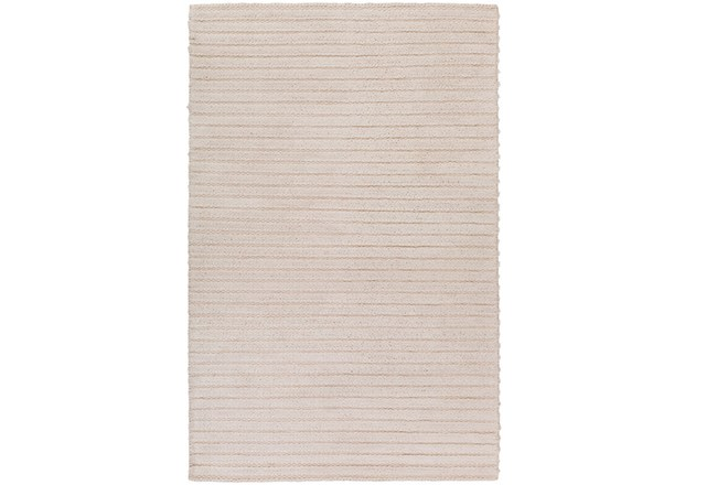 48X72 Rug-Braided Wool Blend Ivory - 360