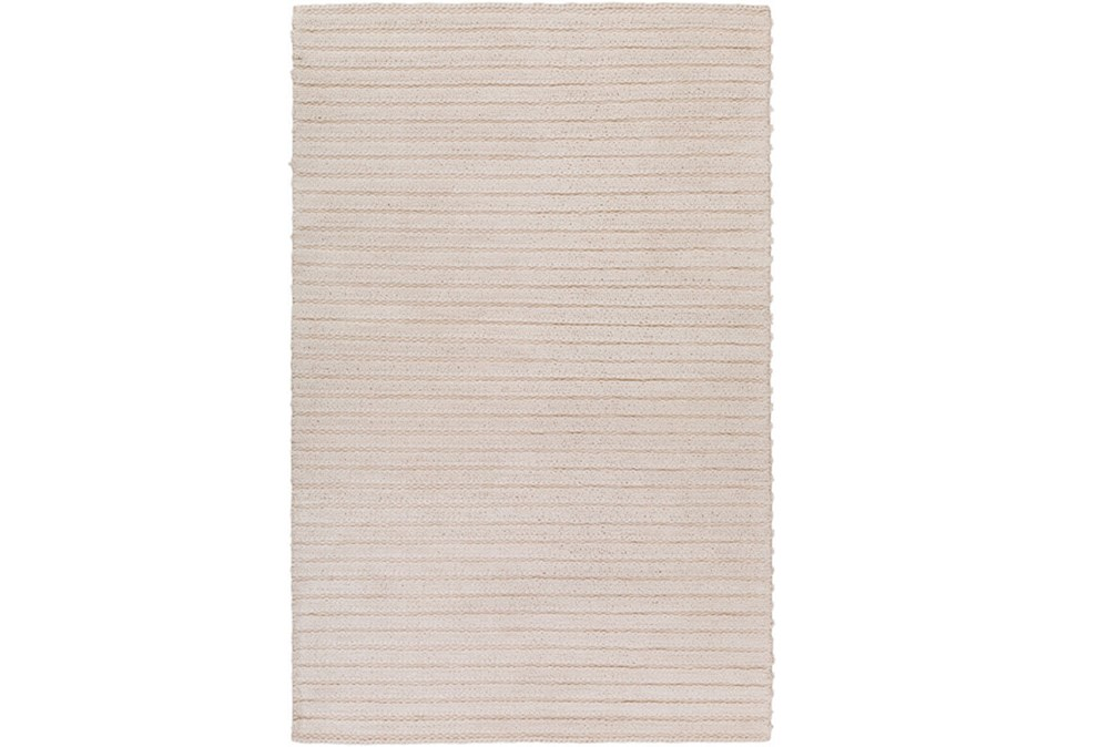 60X90 Rug-Braided Wool Blend Ivory