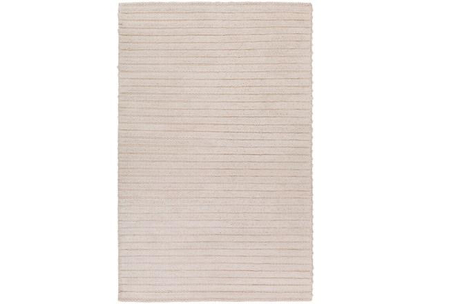 96X120 Rug-Braided Wool Blend Ivory - 360