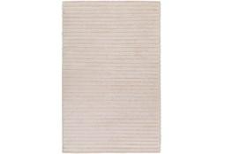 108X156 Rug-Braided Wool Blend Ivory