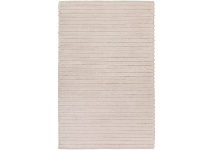 108X156 Rug-Braided Wool Blend Ivory
