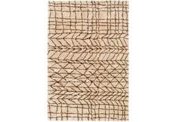 96X120 Rug-Plush Tribal Shag Khaki & Brown