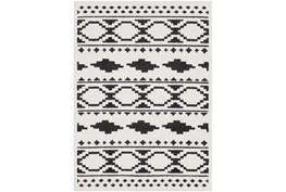 2'x3' Rug-Graphic Tile Shag Black & White