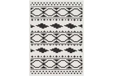 """5'3""""x7'3"""" Rug-Graphic Tile Shag Black & White"""
