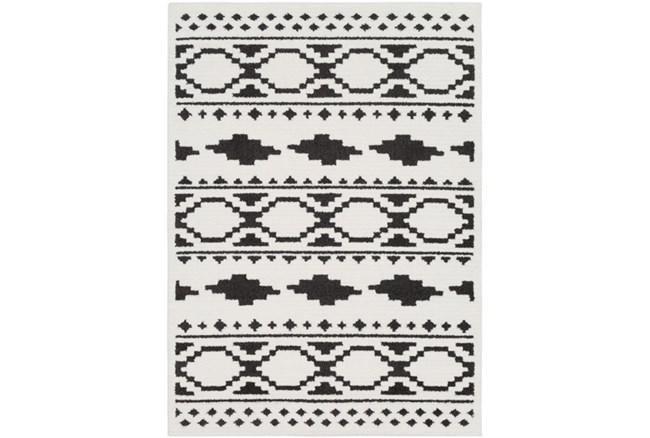 94X123 Rug-Graphic Tile Shag Black & White - 360