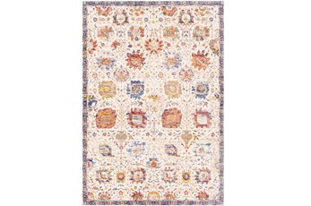 60X87 Rug-Gelson Border Denim Sunset