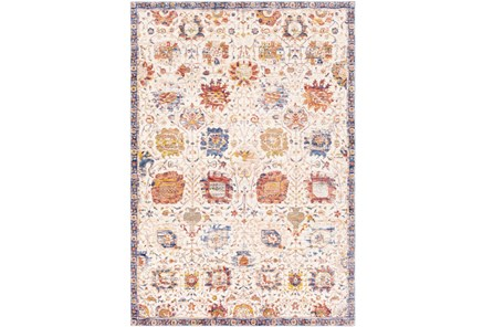 114X162 Rug-Gelson Border Denim Sunset