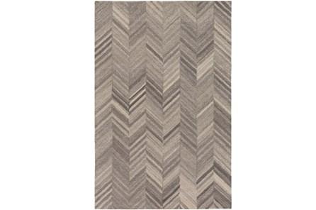 24X36 Rug-Wool Tufted Chevron Grey Tones