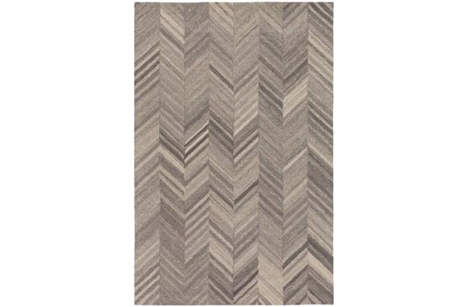 24X36 Rug-Wool Tufted Chevron Grey Tones - 360