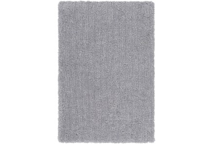 24X36 Rug-Plush Pile Light Grey - Main