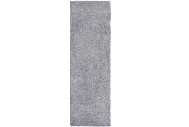 30X96 Rug-Plush Pile Light Grey - 360