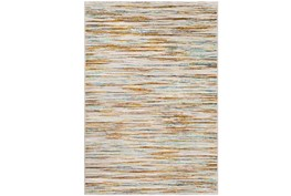 96X120 Rug-Static Sheen Orange And Blue