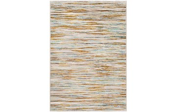 110X153 Rug-Static Sheen Orange And Blue