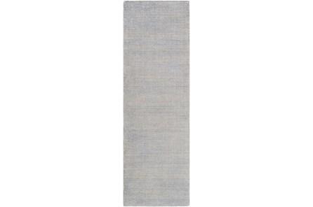 30X96 Rug-Taylor Wool Blend Grey