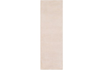 30X96 Rug-Taylor Wool Blend Beige