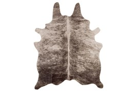 60X78 Rug-Faux Hide Grey And Camel Brindle