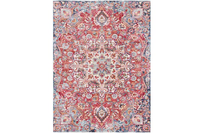 94X123 Rug-Cosmic Traditional Red - 360
