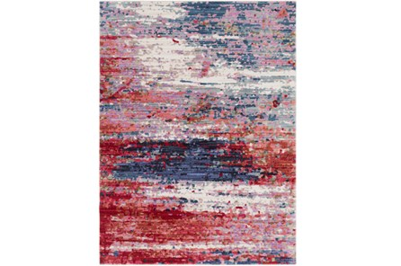 47X71 Rug-Cosmic Splash Red