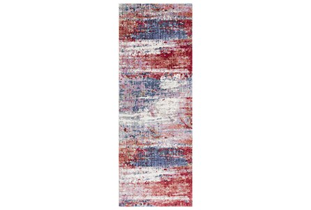 36X94 Rug-Cosmic Splash Red