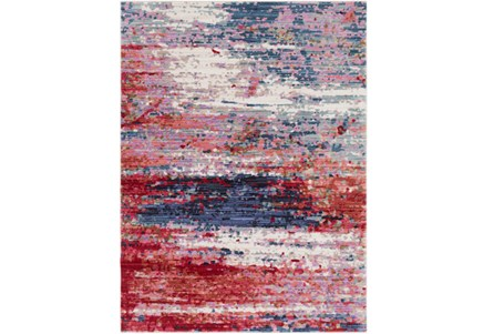 63X87 Rug-Cosmic Splash Red