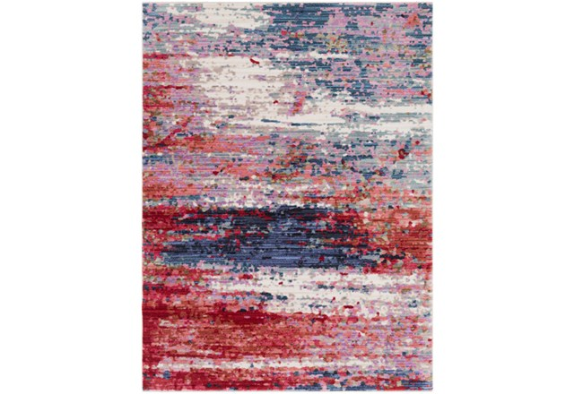 63X87 Rug-Cosmic Splash Red - 360