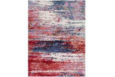 108X156 Rug-Cosmic Splash Red