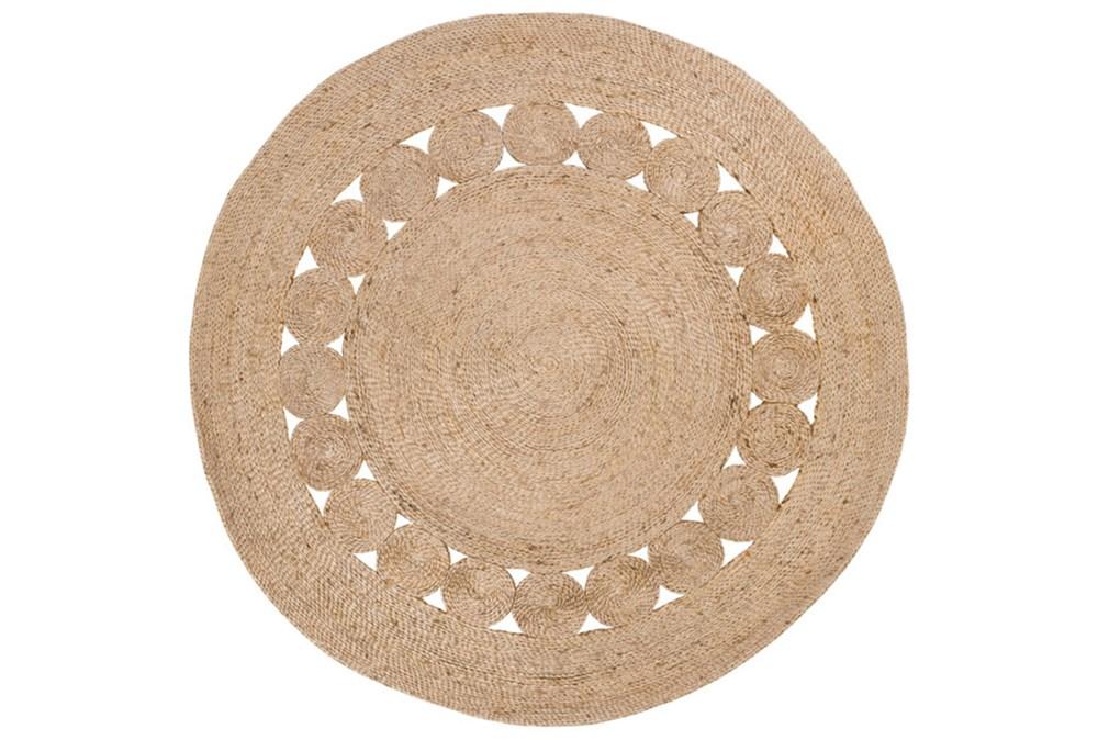 3' Round Rug-Jute Medallion Wheat