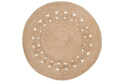 5' Round Rug-Jute Medallion Wheat