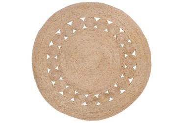 5' Round Rug-Jute Medallion Wheat
