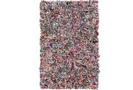 60X96 Rug-Recycled Rag Shag