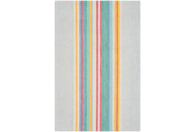 96X120 Rug-Wool Spring Stripe - 360