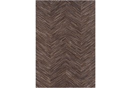 60X96 Rug-Chevron Hair On Hide Dark Brown