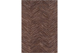 96X120 Rug-Chevron Hair On Hide Dark Brown