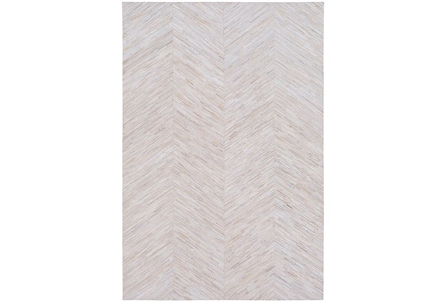 24X36 Rug-Chevron Hair On Hide Cream - 360