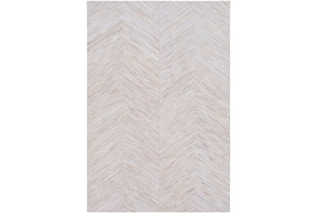 60X96 Rug-Chevron Hair On Hide Cream - 360