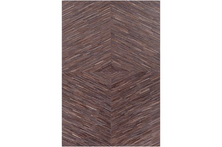 24X36 Rug-Diamond Hair On Hide Dark Brown