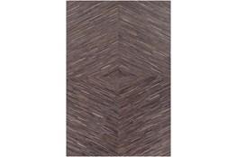 60X96 Rug-Diamond Hair On Hide Dark Brown