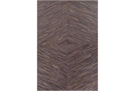 60X96 Rug-Diamond Hair On Hide Dark Brown