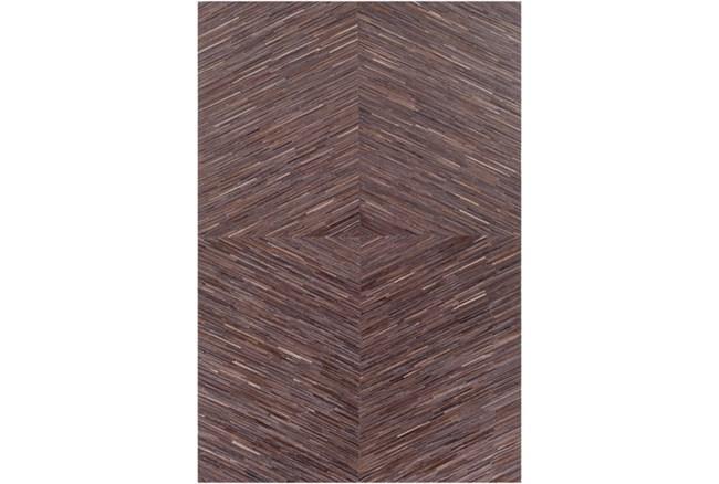 96X120 Rug-Diamond Hair On Hide Dark Brown - 360