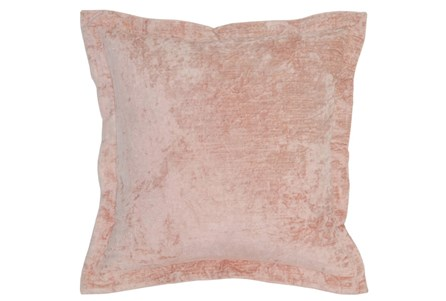 Accent Pillow-Blush Pink Crushed Velvet 22X22