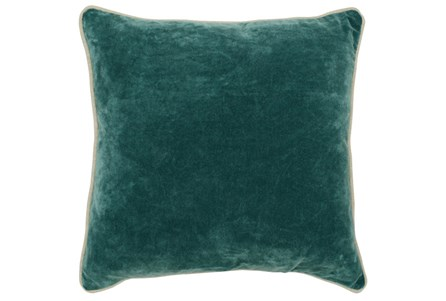 Accent Pillow-Mallard Green Washed Velvet 18X18