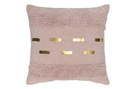 Accent Pillow-Blush Pink Bohemian Ruffle 22X22 - Main
