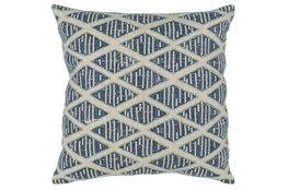 Accent Pillow-Marine Blue Textured Diamond 22X22