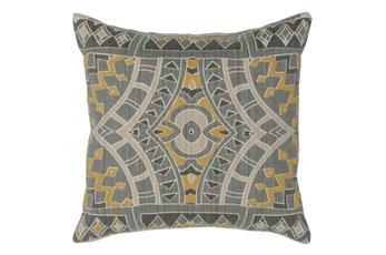 Accent Pillow-Ochre Yellow Mosaic Pattern 18X18