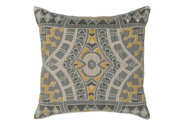 Accent Pillow-Ochre Yellow Mosaic Pattern 18X18 - 360
