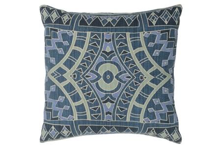 Accent Pillow-Marine Blue Mosaic Pattern 18X18