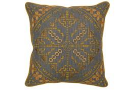 Accent Pillow-Ochre Yellow Batik Pattern 22X22